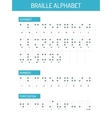 Braille alphabet graphic vector image