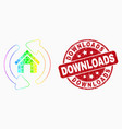 bright pixelated home refresh arrows icon vector image vector image