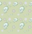 cartoon skull pattern vector image