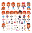 Casually Dressed Female Cartoon Character vector image vector image