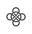 celtic knot interlocked circles logo tattoo icon vector image vector image
