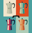coffee vintage pop-art style poster vector image