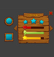 concept game wooden interface you win vector image vector image