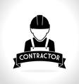 Construction design vector image