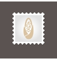 Corncob stamp Outline vector image vector image