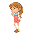 Cute girl standing vector image