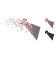 damaged pixel halftone searchlight beam icon vector image vector image