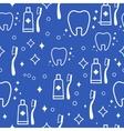 Dental seamless pattern white teeth on vector image