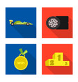 design of car and rally icon collection of vector image vector image