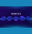 dna medical background biotechnology science vector image vector image