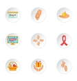 Donation icons set cartoon style vector image vector image