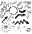 Doodle ink hand drawn pointers arrows and other vector image vector image