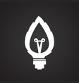 eco green energy bulb on black background vector image vector image