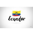 ecuador country flag concept with grunge design vector image