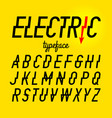 electric style typeface vector image vector image
