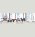 empty no people creative co-working center vector image vector image