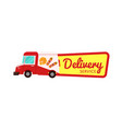 fast food delivery isolated badge vector image vector image