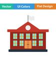 Flat design icon of School building vector image