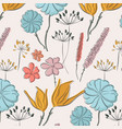 flower summer fabric pattern spring waterclor vector image