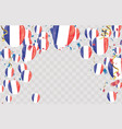 france flags and france balloons garland with vector image vector image