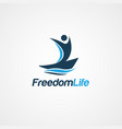 freedom life people logo symbol vector image vector image