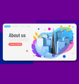 futuristic city life social communication concept vector image