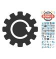 Gearwheel Rotation Icon With 2017 Year Bonus vector image vector image