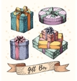 Gift Boxes Collection vector image vector image