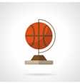 Globe with basketball flat design icon vector image vector image