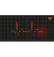 graph - heart rate vector image vector image