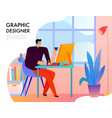 graphic designer flat vector image vector image