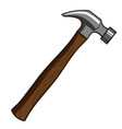 hammer isolated on white vector image vector image