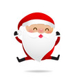 happy christmas character santa claus cartoon 009 vector image vector image