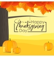 Happy Thanksgiving Day with vector image vector image