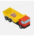 Isometric truck icon vector image vector image