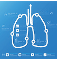 Lung Shape Business And Medical Infographic Design vector image vector image