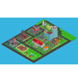 Modern City Isometric Map vector image vector image