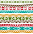 Moroccan border patterns vector image vector image
