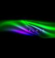 neon glowing fluid wave lines magic energy space vector image vector image