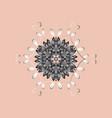 new year snowflake cute abstract snowflake design vector image vector image