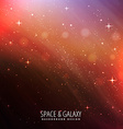 night sky universe background vector image