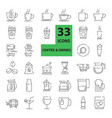 Outline web mono symbol icon set - drink