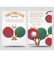 Ping pong flyers template vector image vector image