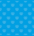pretzel pattern seamless blue vector image vector image