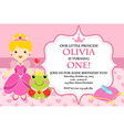 Princess Birthday Party Invitation vector image