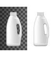 realistic plastic bottle liquid laundry detergent vector image vector image