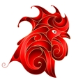 red rooster as symbol for 2017 chinese zodiac vector image vector image
