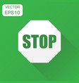 red stop sign icon business concept danger symbol vector image vector image