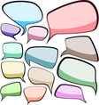Speech color clouds vector image vector image