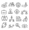 staff line icons set on white background vector image vector image